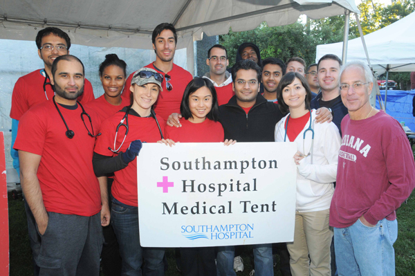 Image: Volunteers at Hamptons Maraphon